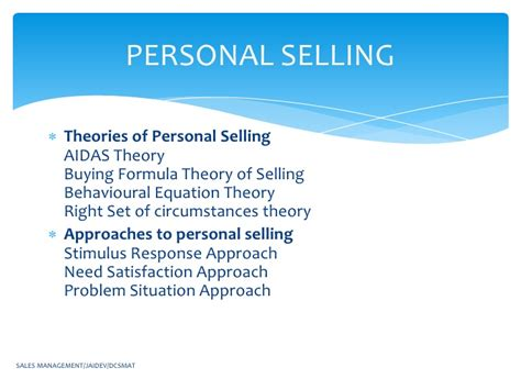 sle of hypothesis sales management