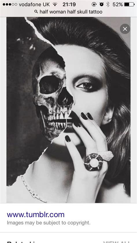half woman half skull tattoo designs half half skull tats half skull