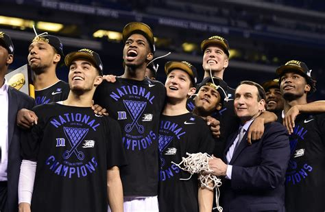 duke basketball team 2015 coach k now king of the one and dones as freshmen lead
