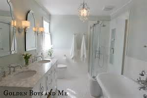 American Classics Vanity Golden Boys And Me Master Bathroom Pedestal Tub White