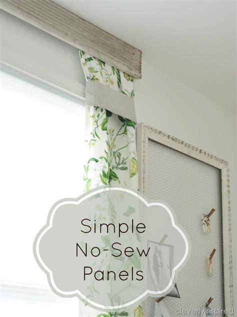 sewing drapery panels simple no sew drapery panels