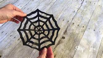 How To Make A Spider Web With Paper - how to make a spider web out of paper