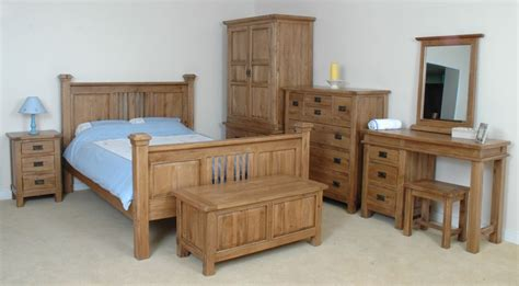 Rustic Oak Bedroom Furniture Riviera Solid Rustic Oak Bedroom Furniture Hanging Wardrobe Ebay