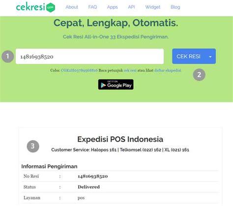 cek resi nss express cara cek resi pos express dan kilat khusus online 2018