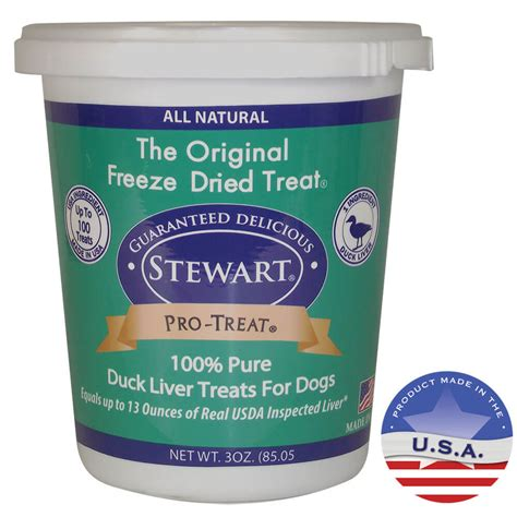 liver treats for dogs stewart pro treat freeze dried duck liver treats for dogs 3 oz