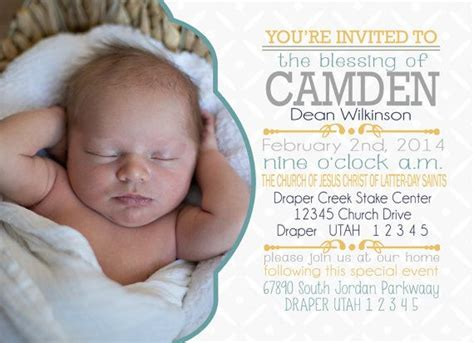 Lds Baby Blessing Ideas Party Invitations Ideas Baby Blessing Invitation Templates
