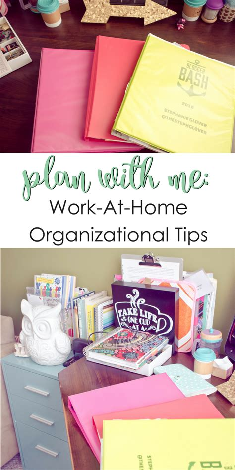 organizational tips plan with me work at home organizational tips a grande
