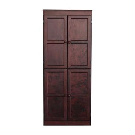 Home Depot Pantry Shelves by Concepts In Wood Multi Use Storage Pantry In Cherry Kt613b 3072 C The Home Depot