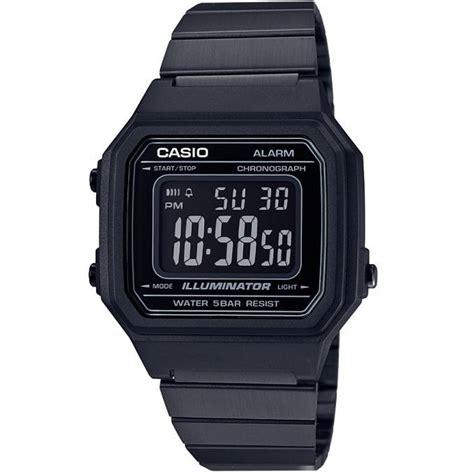 montre casio digitales b650wb 1bef montre multifonctions acier noir mixte sur bijourama