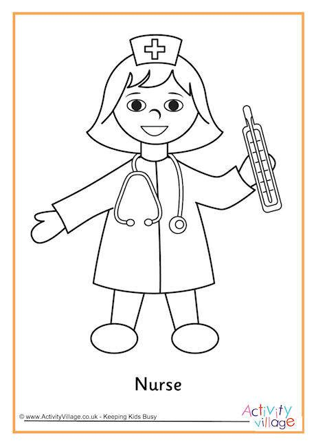 coloring book for nurses is for nurse coloring page free