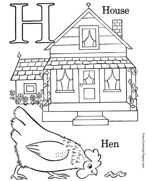 letter h is for house coloring page bulk color letter h is for house alphabet coloring sheets h is for house
