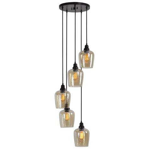 Uttermost Lighting Fixtures 22119 Aarush 5 Light Glass Uttermost Lighting Fixtures