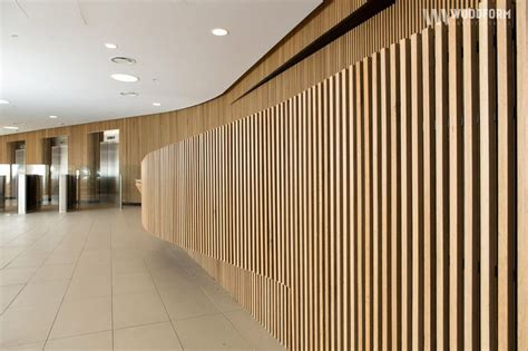 Interior Timber Cladding American White Oak Curved Wall Interior Application
