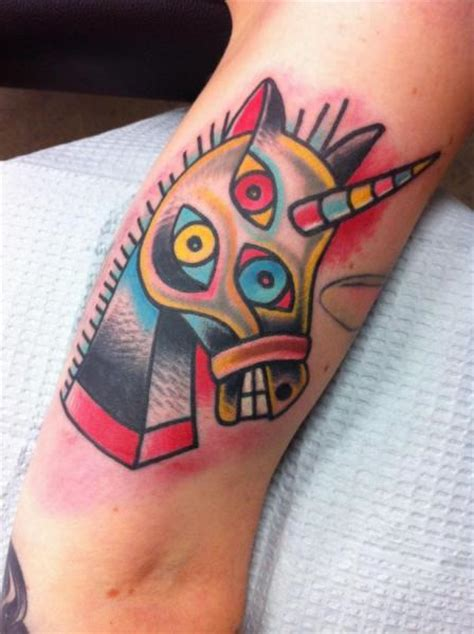arm horse abstract tattoo by destroy troy tattoos