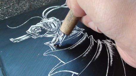 How To Make Scratchboard Paper - diy scratch make