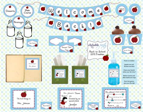 6 back to school tutorials and free printables the diy mommy free back to school printables from clickable party