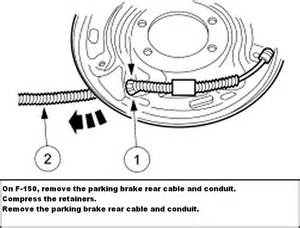 Brake Line Diagram For 1999 F150 How Do I Release The Emergency Brake On My Sons 99 Ford F150