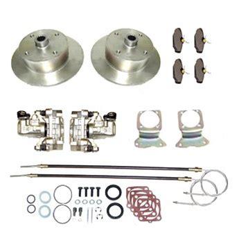 stud pattern vw up rear disc brake conversion kit with emergency parking