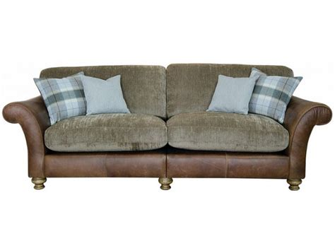 4 seater leather sofas sale longrow 4 seater leather and fabric sofa longlands