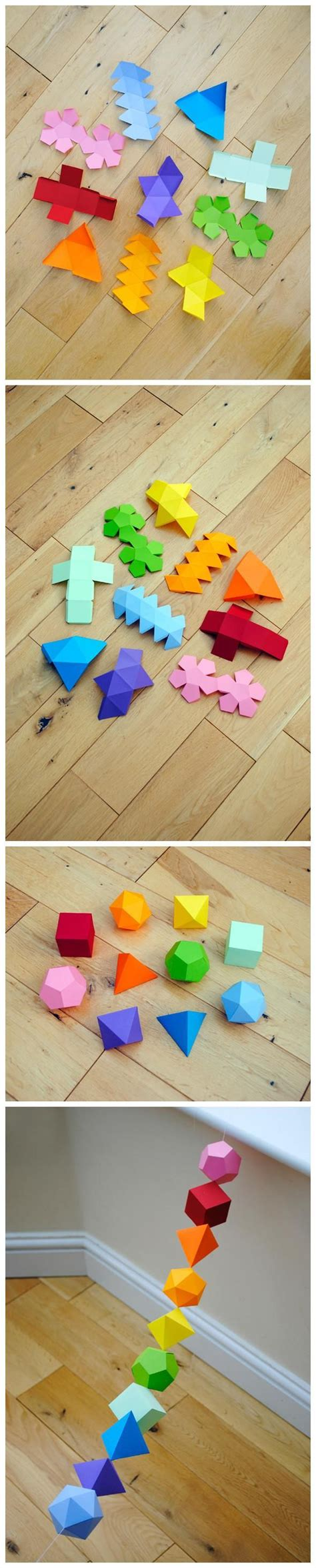 Origami 3d Shapes - 3 d shapes diy 3d origami and shape