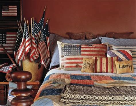 patriotic bedroom decorating ideas decorating with american country antiques the pillow