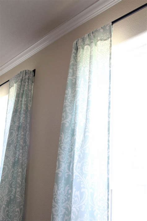 Drapery Tutorial simple curtains sewing tutorial inspired