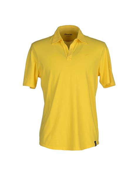 Polo Yellow drumohr polo shirt in yellow for save 59 lyst