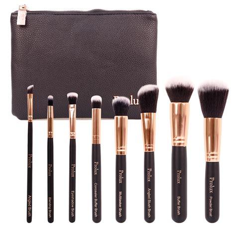 profusion deluxe 8 pcs make up brush set cosmetic bag
