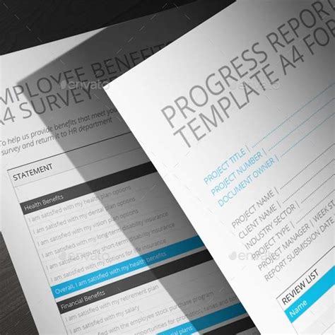 employee benefits survey a4 template by keboto graphicriver