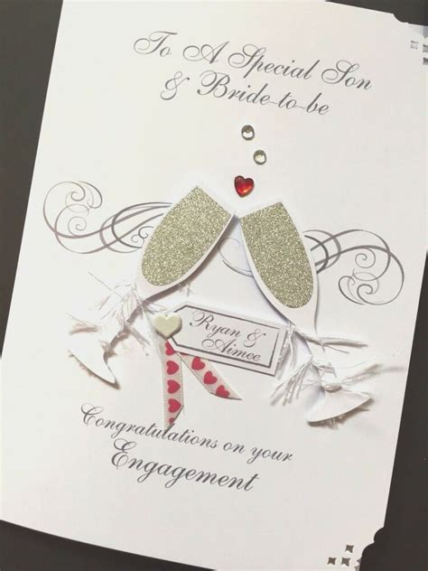 Personalised Handmade Engagement Card   eBay