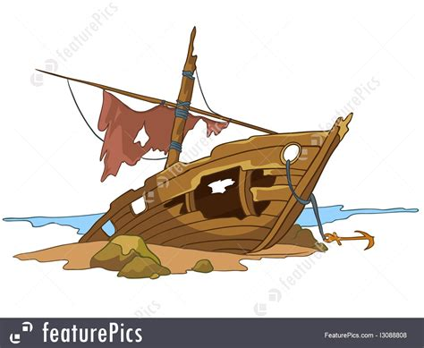 boat cartoon pirate wreck clipart pirate ship pencil and in color wreck