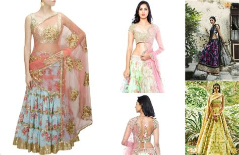 flower design lehenga miss right and her right now lehenga designs indian