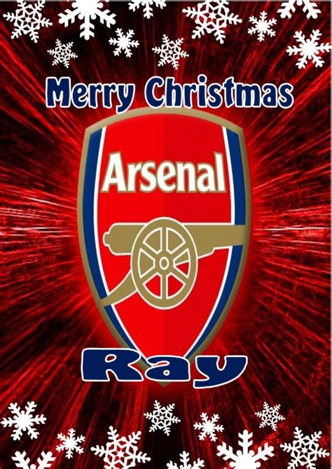 arsenal xmas presents personalised arsenal fc christmas card