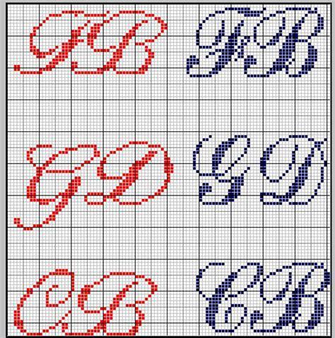 lettere iniziali schema punto croce iniziali jadir3