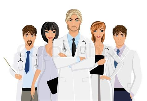male doctor  medical staff team isolated