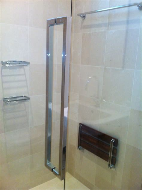 Frameless Shower Door Handle Frameless Shower Door With Cr Laurence Hardware Ot Glass
