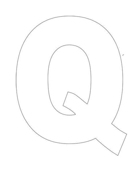 Alphabet Letter Q Template For Kids Crafts Pinterest Letter Template To Print