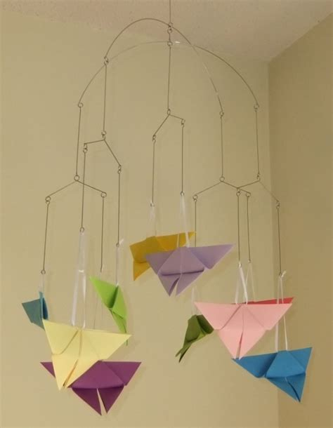 origami butterfly mobile rainbow origami butterfly mobile aftcra