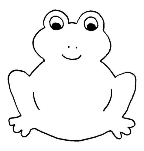 frog outline template frog template animal templates free premium templates