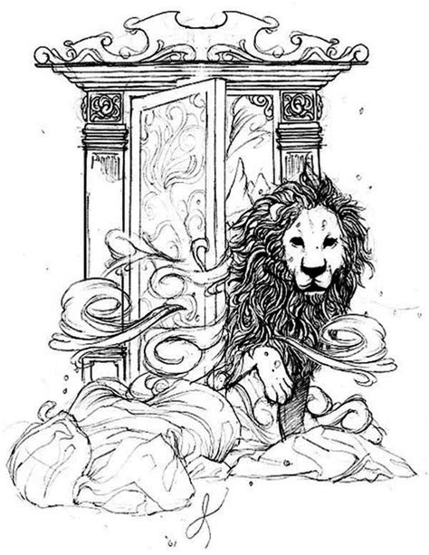 Chronicles Of Narnia Aslan Come Out From Narnia Narnia Colouring Pages
