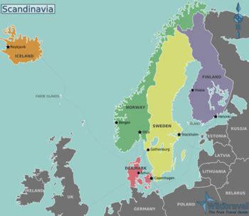 scandinavia map scandinavia wikitravel