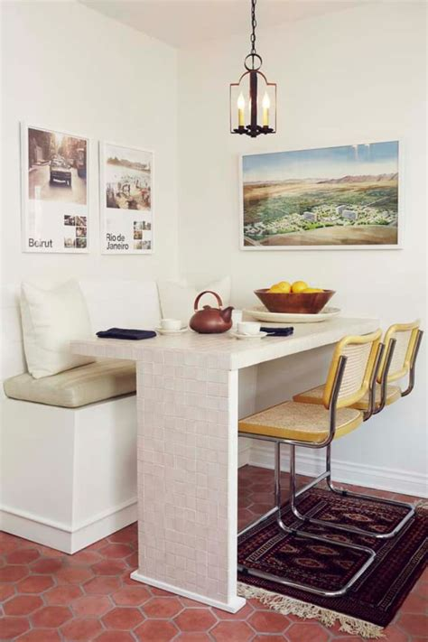 banquette built  benches add smart kitchen seating