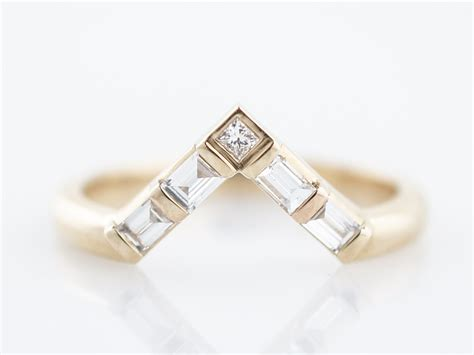 v shaped wedding ring wr015 white v shaped wedding rings