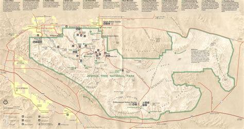 joshua tree park map carte ouest americain pdf