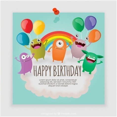 Gry Birthday Cards Potwor Wektory Zdjęcia I Pliki Psd Darmowe Pobieranie