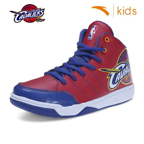 cavs shoes anta nba youth cushion basketball shoes cleveland