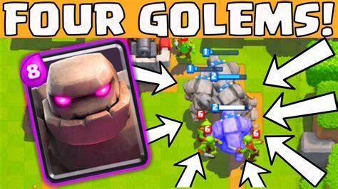 clash royale four golem strategy funniest weirdest epic troll deck gameplay mobigamer