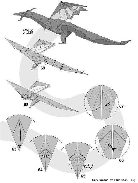 How To Make Paper Dragons - kade chan origami 香港摺紙工作室 日誌 fiery