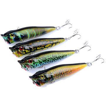 Umpan Pancing Lure Popper 12g 9 5cm zanlure 4pcs set 9 5cm 12g fishing lure topwater popper wobblers crankbaits artificial