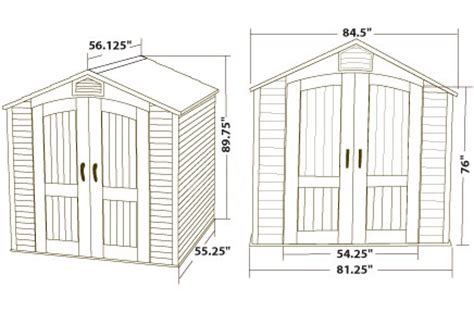 Maximum Shed Height lifetime 7x5 plastic storage shed kit w floor 60057